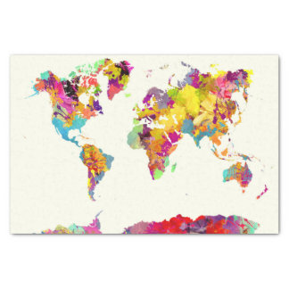 Weltkartefarben Seidenpapier