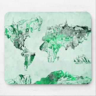 Weltkartegrün Mauspads