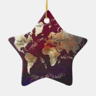 Weltkartekunst Keramik Stern-Ornament