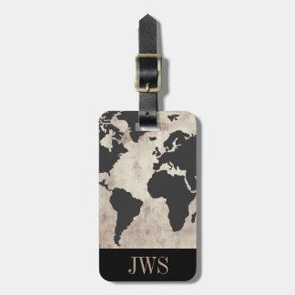 Weltkarten-Vintager Anfangsgepäck-Umbau Kofferanhänger