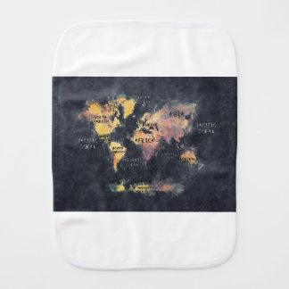 Weltkarteozeane und -kontinente spucktuch