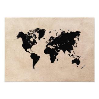 Weltkarteschwarzes Fotodruck