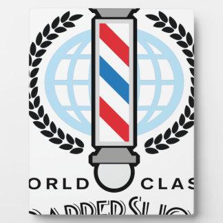 Weltklassen-Friseursalon Fotoplatte