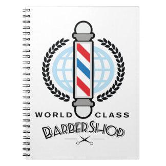 Weltklassen-Friseursalon Notizblock