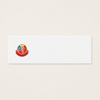 Weltkrieg 2 Versuchs-USA-China-Flaggen-Kreis Retro Mini Visitenkarte