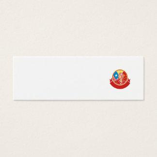 Weltkrieg 2 Versuchs-USA-China-Flaggen-Kreis Retro Mini-Visitenkarten