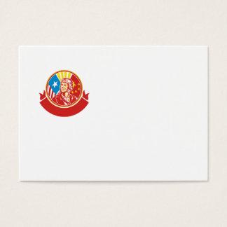 Weltkrieg 2 Versuchs-USA-China-Flaggen-Kreis Retro Visitenkarte