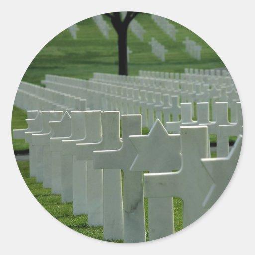 Weltkrieg-Friedhof, Erinnerungstag Runde Aufkleber