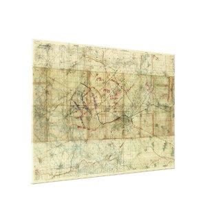 Weltkrieg-Kampf der Kampf-Karte Kanal-du Nord Gespannte Galeriedrucke
