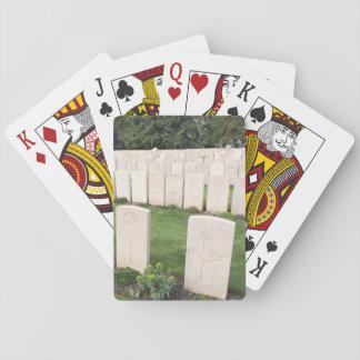Weltkrieg-Kriegs-Grab-Plattform Spielkarten