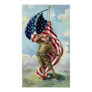 Weltkrieg-Soldat Poster
