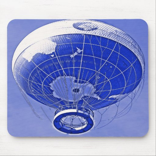Weltkugel-Ballon im Blau Mauspads