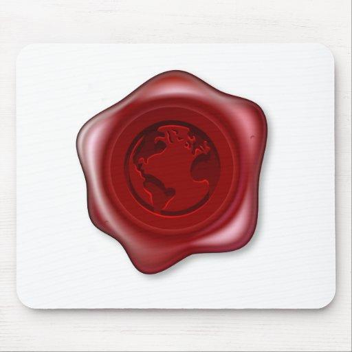 Weltkugel-Dichtungs-Wachs Mauspads