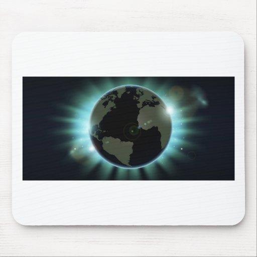 Weltkugel-Eklipsehintergrund Mauspad