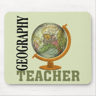 Weltkugel-Geografie-Lehrer Mauspads