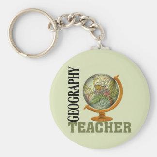 Weltkugel-Geografie-Lehrer Standard Runder Schlüsselanhänger