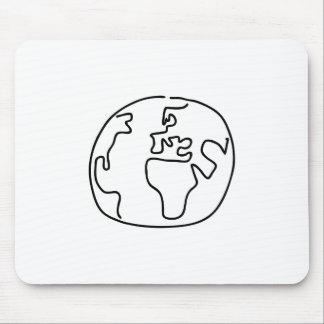 Weltkugel Globus Weltkarte Afrika Europa Mousepad