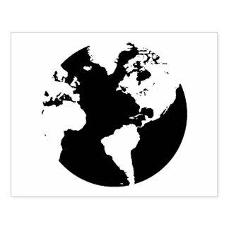 Weltkugel-Kontinent-Entwurfs-Briefmarke Gummistempel