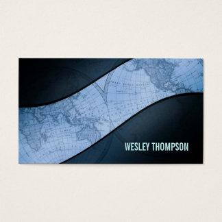 Weltkugel-Visitenkarten Visitenkarte