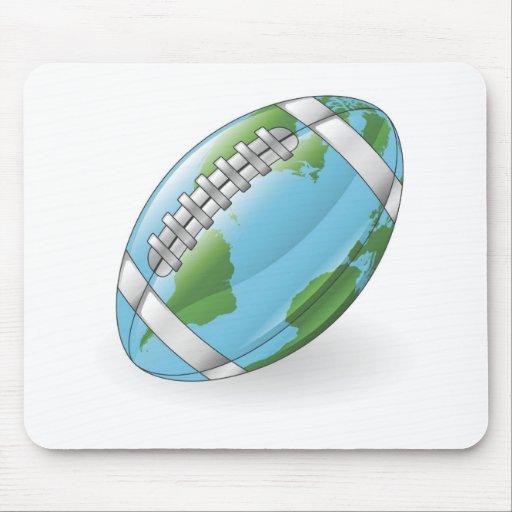 Weltkugelfußball-Ballkonzept Mousepads