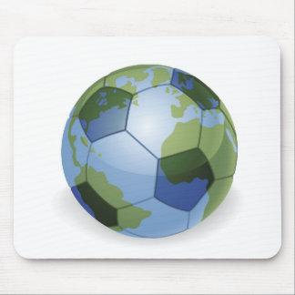 Weltkugelfußballfußbalball-Konzept illustrat Mousepads