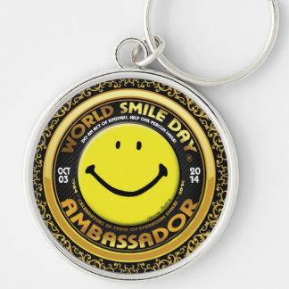 Weltlächeln Day® Botschafter 2014 Schlüsselkette Schlüsselanhänger