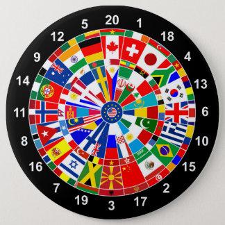 WeltLandesflaggepfeil-Brettspiel-Reise Stiere-e Runder Button 15,3 Cm