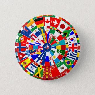 WeltLandesflaggepfeil-Brettspiel-Reise Stiere-e Runder Button 5,1 Cm