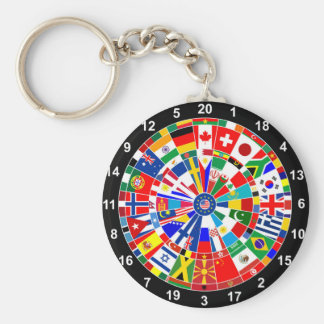 WeltLandesflaggepfeil-Brettspiel-Reise Stiere-e Schlüsselanhänger