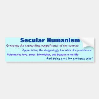 Weltlicher Humanismus Autoaufkleber