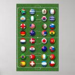Weltmeisterschaft-Plakat 2010 Poster
