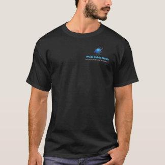 Weltöffentlichkeits-Medien. Der Tee der Männer T-Shirt