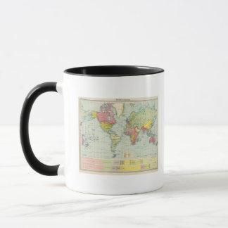 Weltpolitische Karte Tasse