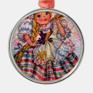 WELTpuppen-SCHWEIZER Silbernes Ornament