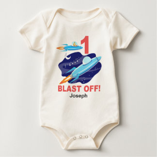 Weltraum-1. Geburtstag Baby Strampler