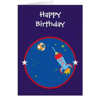 Weltraum 1 Geburtstags-Karte Grußkarte