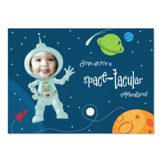 Weltraum-Astronauten-Geburtstags-Einladungs-Karte 11,4 X 15,9 Cm Einladungskarte