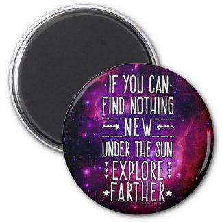 Weltraum-Galaxie-/Nebelfleck-Erforschung fasst 2 Runder Magnet 5,7 Cm