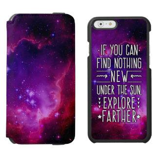 Weltraum-Galaxie-Nebelfleck-Erforschung fasst Lila Incipio Watson™ iPhone 6 Geldbörsen Hülle