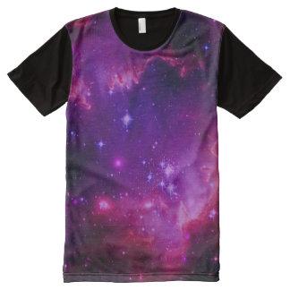 Weltraum-Galaxie/Nebelfleck-lila Tönung ist in der T-Shirt Mit Bedruckbarer Vorderseite