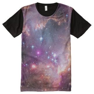 Weltraum-Galaxie/Nebelfleck-lila Tönung ist in der T-Shirt Mit Komplett Bedruckbarer Vorderseite