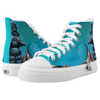 Weltraum Hoch-geschnittene Sneaker
