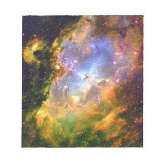 Weltraum-Nebelfleck Notizblock