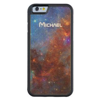 Weltraum-Nordamerika-Nebelfleck personalisiert Bumper iPhone 6 Hülle Ahorn