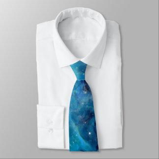 Weltraum-Türkis-Blau-galaktischer sternenklarer Krawatte