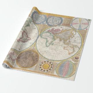 Weltreise-Karten-Antike Vintag Geschenkpapier