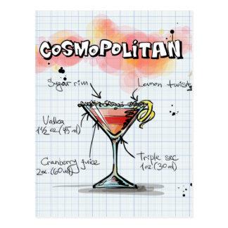 Weltrezept - Cocktail-Geschenk Postkarte