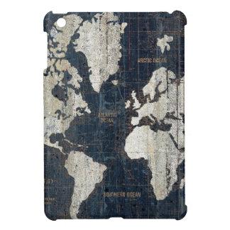 Welts-Karten-Blau iPad Mini Hülle