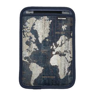 Welts-Karten-Blau iPad Mini Sleeve