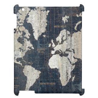 Welts-Karten-Blau iPad Schale